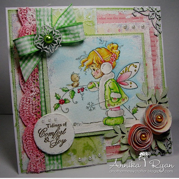 Winter Fairy - Digital Stamp - Whimsy Stamps