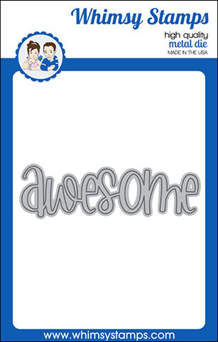 **NEW Awesome Large Word Die - Whimsy Stamps
