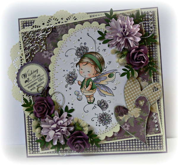 Posey - Digital Stamp - Whimsy Stamps