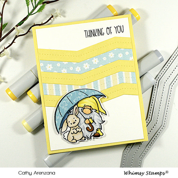 **NEW Gnome Get Well Clear Stamps - Whimsy Stamps