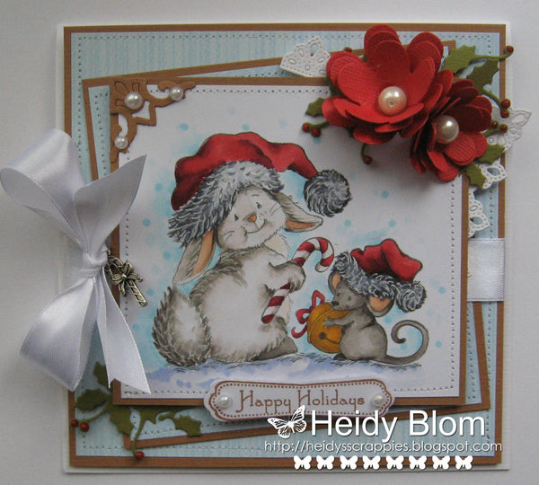 2 Christmas Tales Rubber Cling Stamp - Whimsy Stamps
