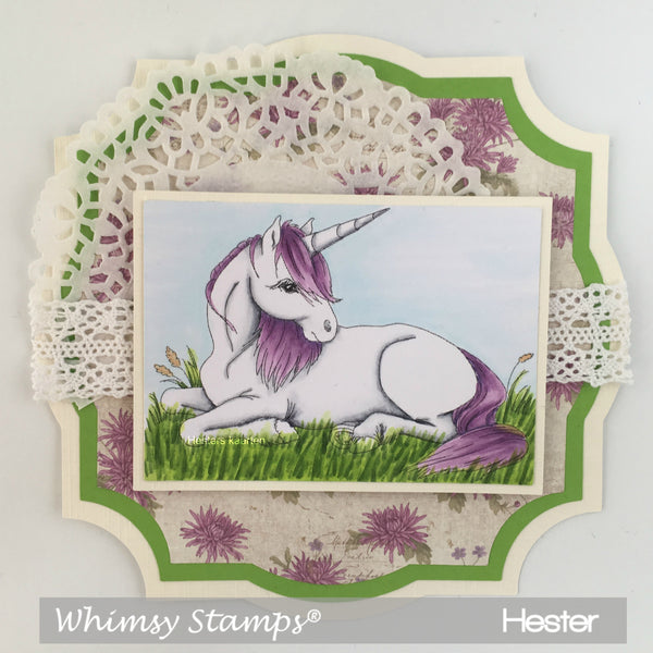Unicorn Daydreams - Digital Stamp - Whimsy Stamps