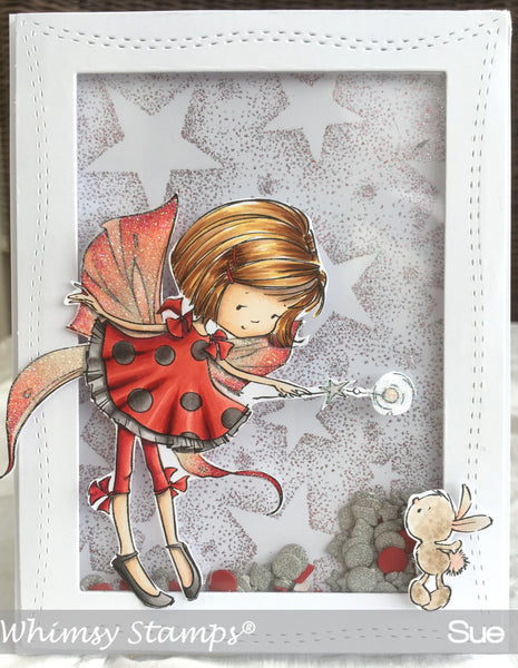 Star Background Rubber Cling Stamp - Whimsy Stamps
