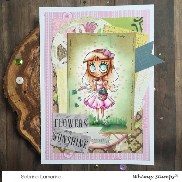 Flower Girl Ivy - Digital Stamp - Whimsy Stamps