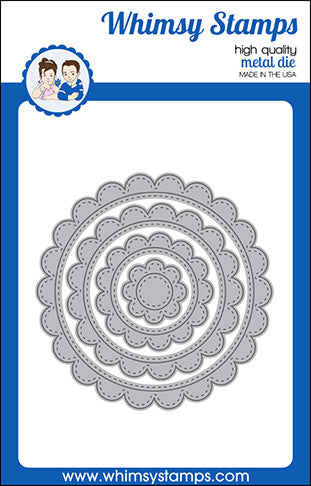 **NEW Scallop Circle Frames Die Set - Whimsy Stamps