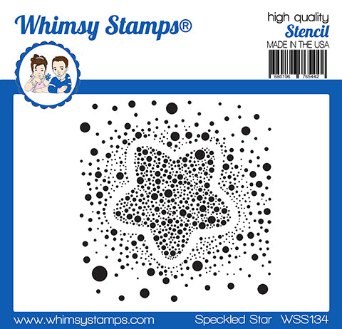 **NEW Speckled Star Stencil - Whimsy Stamps