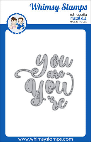 **NEW You Word Die Set - Whimsy Stamps