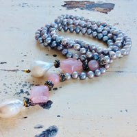 Pastel Pearl Lariat Necklace