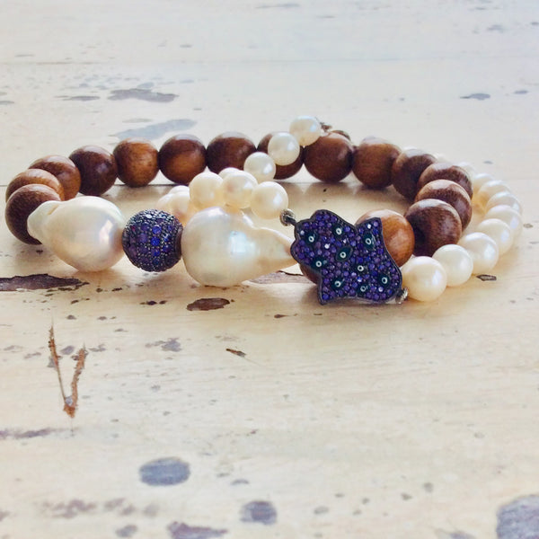 Hamsa Bracelets Set For Woman