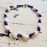 Amethyst & Baroque Pearl Choker Necklace at $385