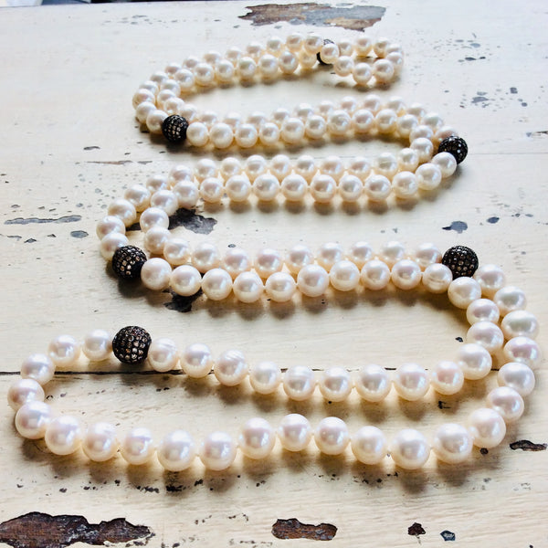 Elegant Freshwater Pearl Rope Necklace