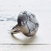Brushed Finish Sterling Silver Statement Cocktail Ring at $245
