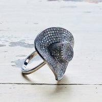 Cocktail Ring Cowboy Hat Style at $294