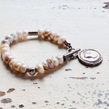 Lavender Distressed Pearls Roman Coin Matching Set