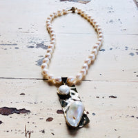 Baroque Pearl Pendant Necklace at $398