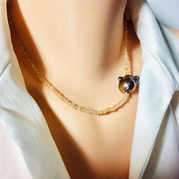 Citrine & Baroque Pearl Necklace November Birthstone