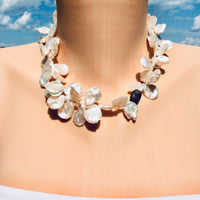Petal Pearl Champagne Diamond Necklace