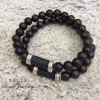 Dark Brown Sandalwood Men Bracelet