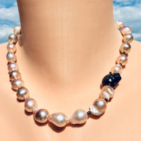 Exclusive Metallic Baroque Pearl Necklace