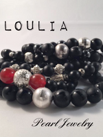 Matt Black Onyx Bracelet Stack For Men