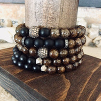 Bronzite Bracelet For Him at $65