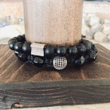 Black Onyx Stretchy Bracelet at $90