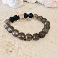 Smoky Quartz Stack Bracelet
