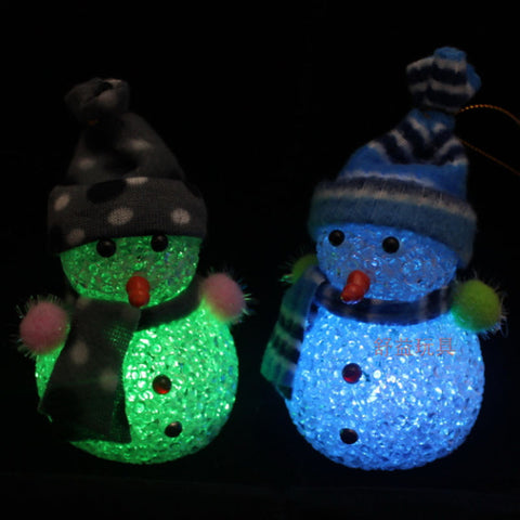 Color Changing LED Snowman Christmas Decor