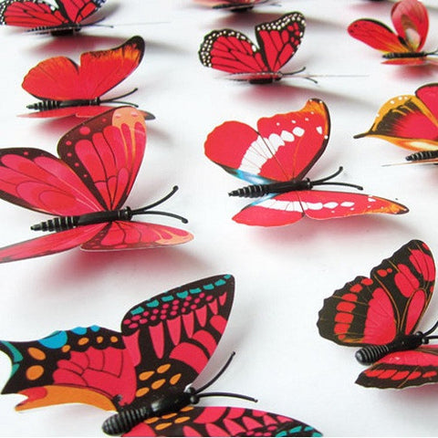 3D PVC Wall Fridge Butterfly Sticker Magnet