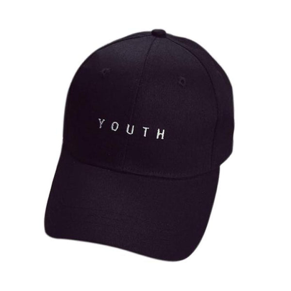 KLV Black/White Unisex Cotton Baseball Cap