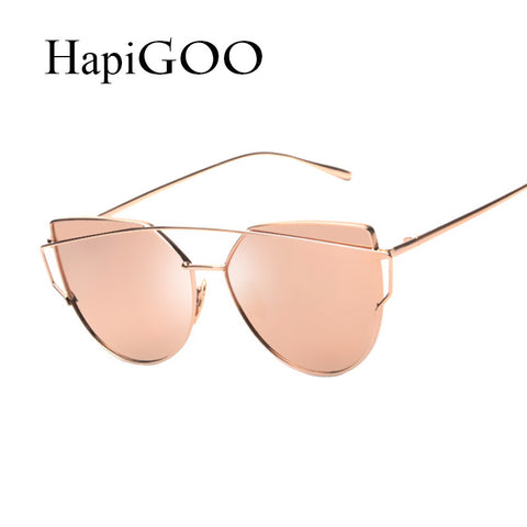HapiGOO Fashion Cat Eye Design Sunglasses for Women