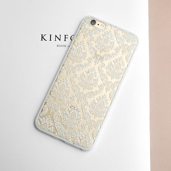 Time Tower Vintage Flower Pattern iphone6S phone Cover