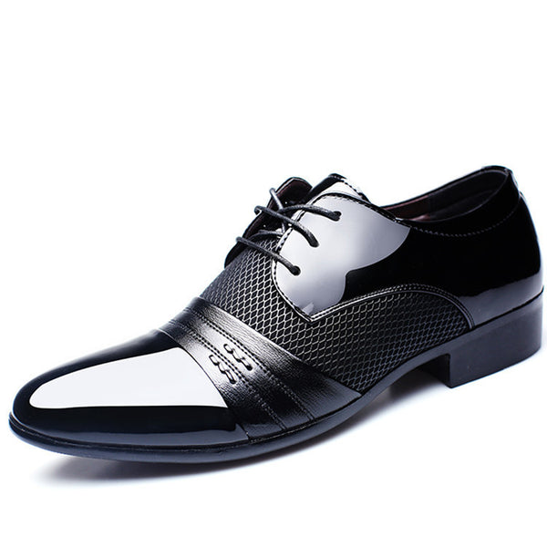 Heera Patent Leather Flat Shoes for Men