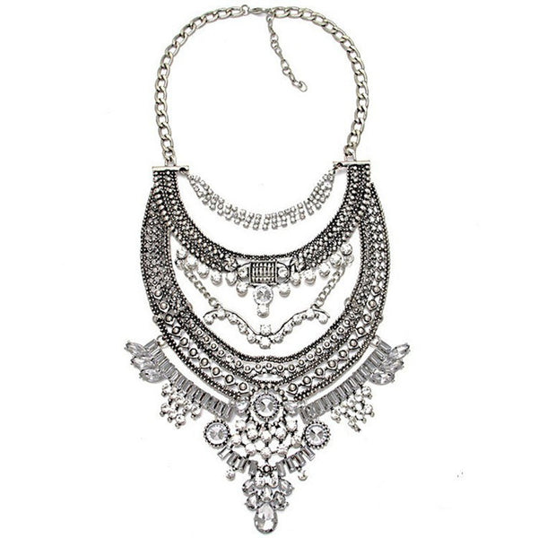 Coolshine Crystal Collier Vintage Necklaces for Women