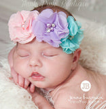 TWDVS Flower Pearl Diamond Hair accessories for Newborn
