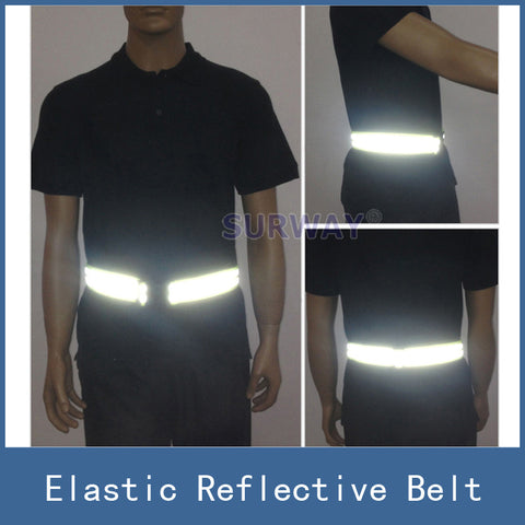 High Visibility Security Elastic Safety Reflective Vest Belt Waistband