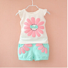 Korean Baby Girls Summer Clothing Sets