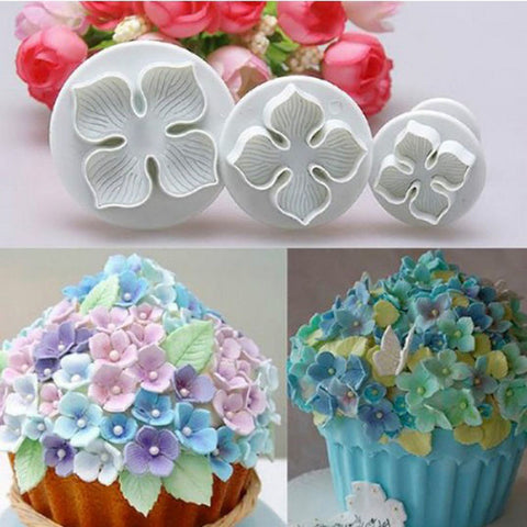 Cake Decorating Sugarcraft Plunger Cutter Flower Style