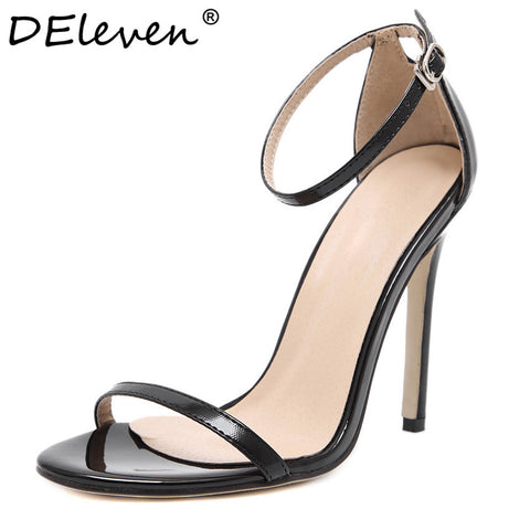 DEleventh Peep toe Buckle trap High Heel women's Shoes