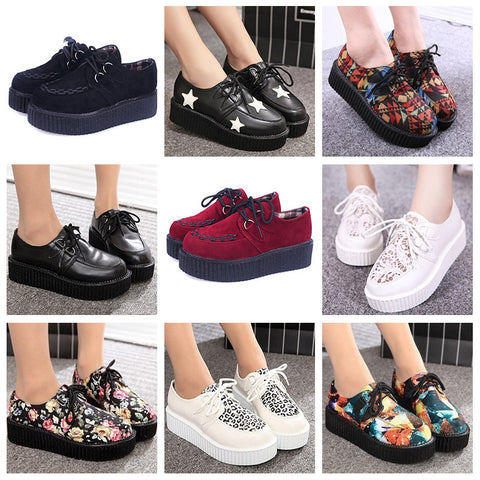 DUOYANG Women's Flat Creepers Shoes
