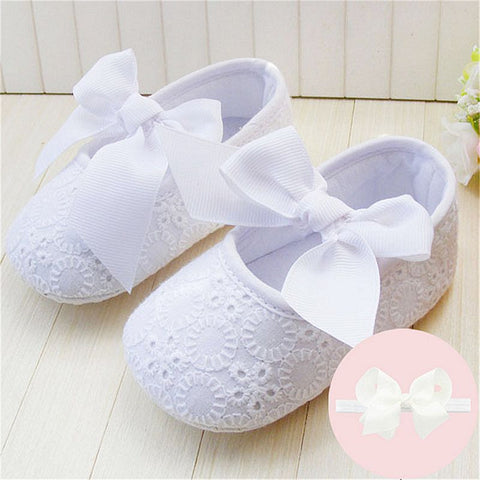 Baby Girl's Butterfly-knot Soft Sole Kids Shoes