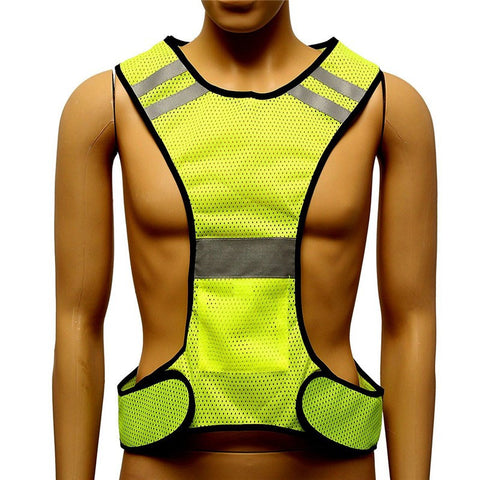 High Visibility Reflective Yellow Vest Security Equipment