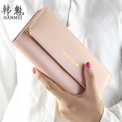 HANMEI Fashion Popular Long PU Handbags for Women