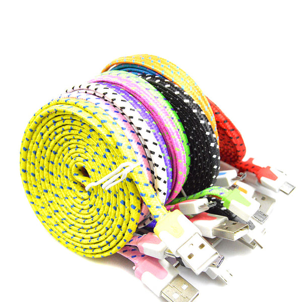 Braided Colorful USB Charging Sync Cord for Iphone 5 5s 6 6s plus