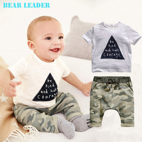 Bear Leader Summer style Clothing Set for baby boy & baby girl