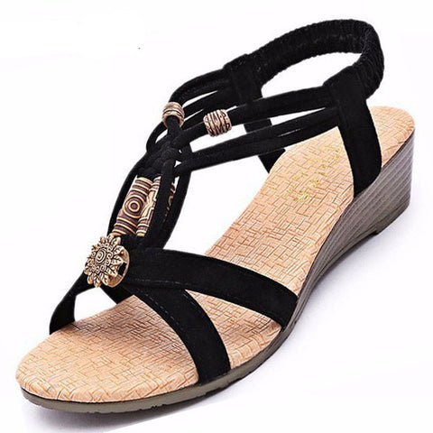2016 Summer Vintage Gladiator Wedge Shoes for Women