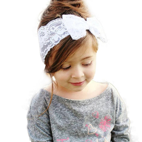 Baby Girl Lace Big Bow Hair Band Accessories