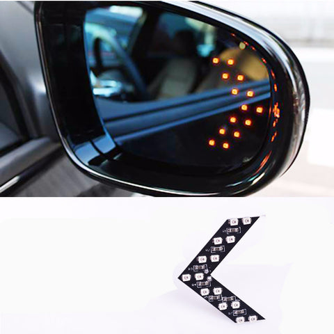 2 Pcs/lot 14 SMD LED Arrow Panel For Car Rear View Mirror Indicator