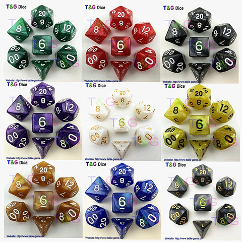 High Quality Multi-Sided Game Dice With Pearlized Effect