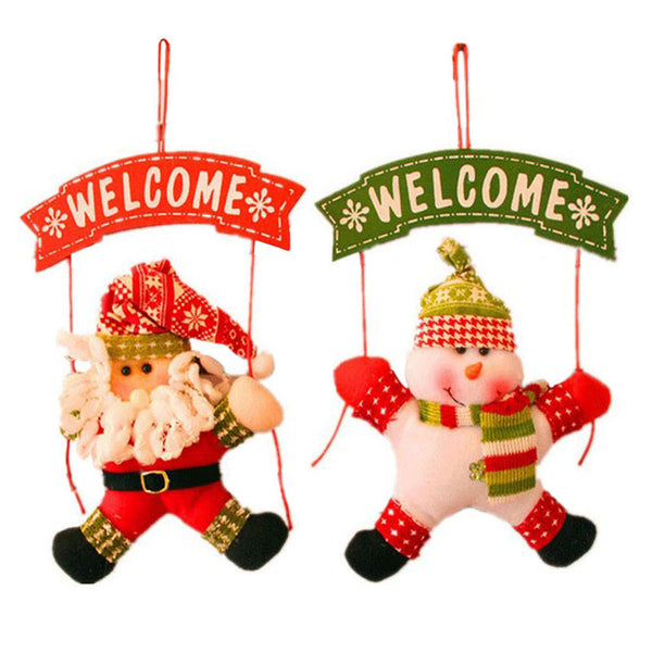 Santa Claus Snowman Door Decoration